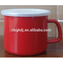 High quality as sublimation mug Enamel red coating enamel mug